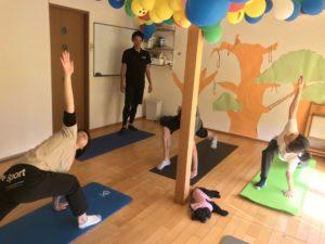 そして、Pilatesやっていた
